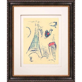 Marc Chagall 'Sketch for Angel of Mozart' Lithograph Framed