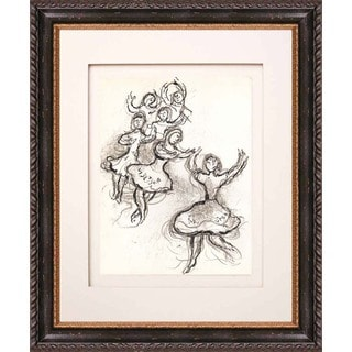 Marc Chagall 'Untitled, Sketch 2' Lithograph Framed
