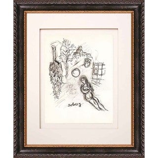 Marc Chagall 'Untitled, Sketch 4' Lithograph Framed