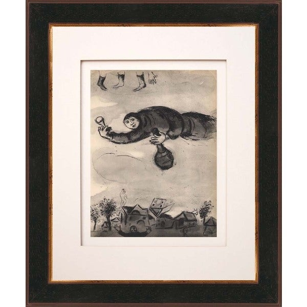 Marc Chagall 'Le boulanger' Heliogravure Framed Art