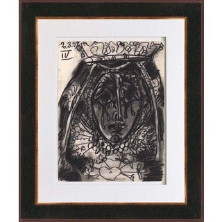 "Pablo Picasso ""Number 4 dated 2/3/59"" Bichromie Framed"