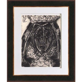 Pablo Picasso 'Number 4 dated 2/3/59' Bichromie Framed