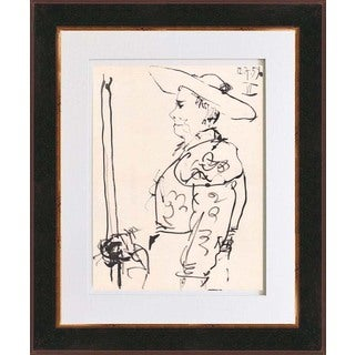Pablo Picasso 'Number 6 dated 12/7/59' Bichromie Framed