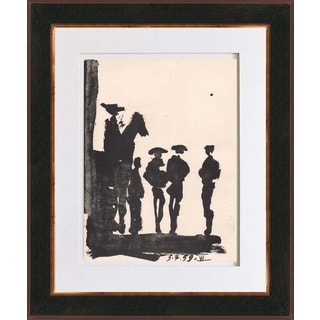 Pablo Picasso 'Number 6 dated 5/7/59' Bichromie Framed
