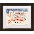 "Pablo Picasso ""Number 1 dated 1/8/57"" Quadrichromie Framed"