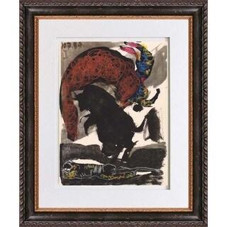 Pablo Picasso 'Number 1 dated 10/7/59' Color Quadrichromie Framed
