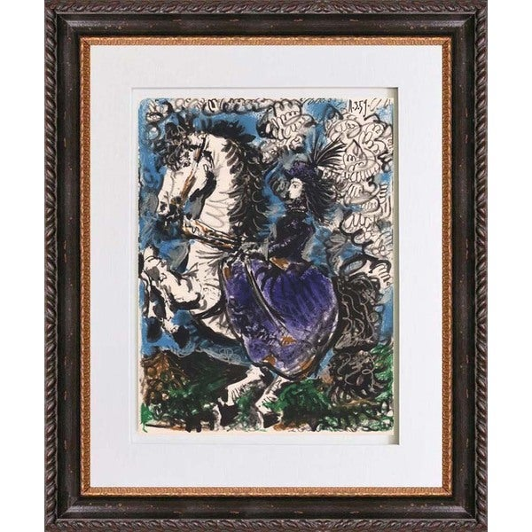 Pablo Picasso 'Untitled dated 11/3/59' Quadrichromie Framed