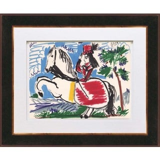Pablo Picasso 'Number 10 dated 10/3/59' Color Quadrichromie Framed