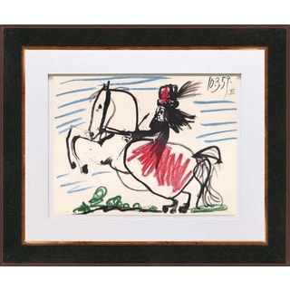 Pablo Picasso 'Number 12 dated 10/3/59' Quadrichromie Framed