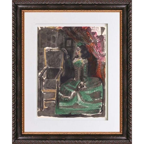 Pablo Picasso 'Number 2 dated 11/3/59' Color Quadrichromie Framed