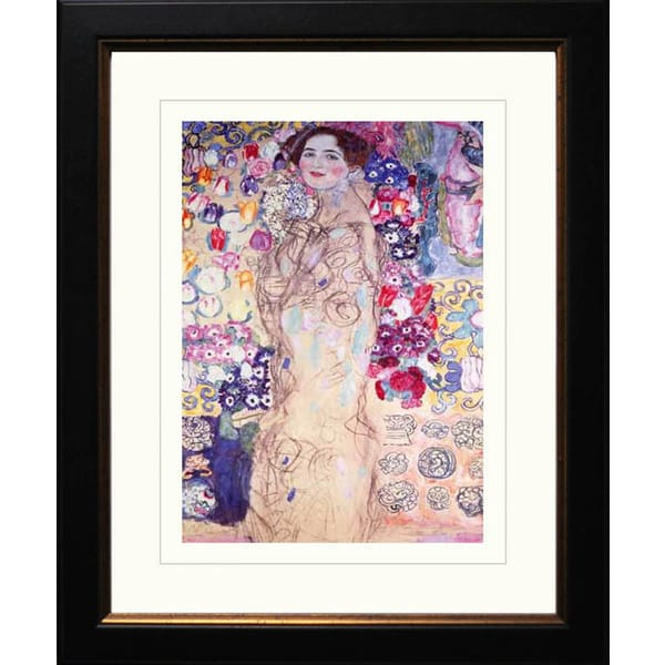 Gustav Klimt 'Portrait of a Lady' Framed Giclee Art