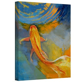 Michael Creese 'Butterfly Koi' Gallery-Wrapped Canvas Art