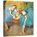 Edgar Degas 'Two Dancers at Rest' Gallery-Wrapped Canvas Art