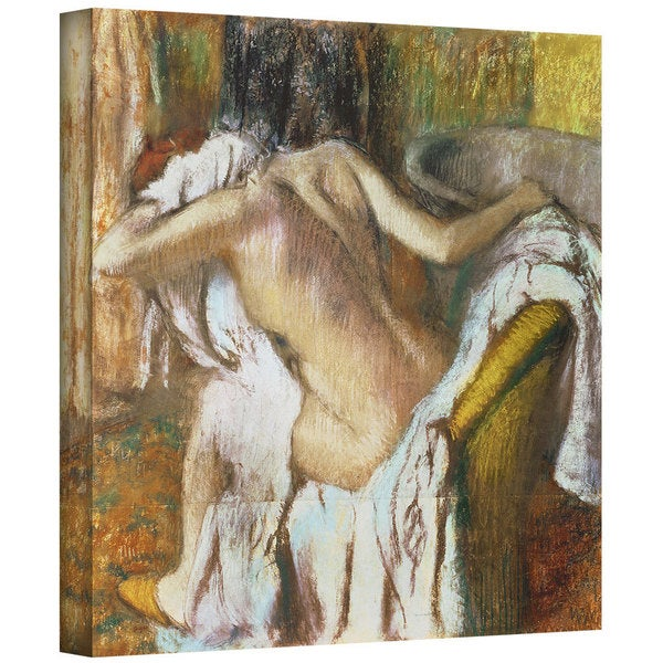 Edgar Degas 'Woman Drying Herself' Gallery-Wrapped Canvas Art 12130742