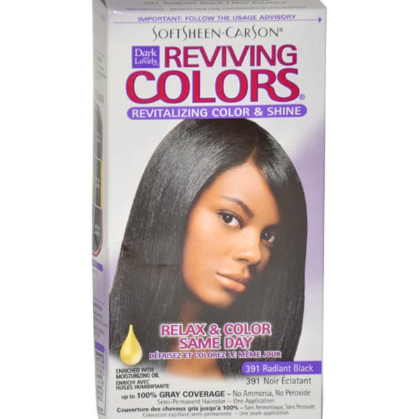 Dark and Lovely Reviving Colors # 391 Radiant Black 1 Application Hair Color