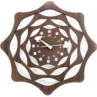 Modern Mid-century 30-inch Wood Webb Clock
