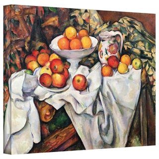 Paul Cezanne 'Apples and Oranges' Gallery-Wrapped Canvas Art