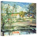 Paul Cezanne 'In the Oise Valley' Gallery-Wrapped Canvas Art