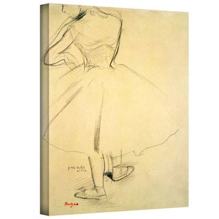 Edgar Degas 'Ballet Dancer from Behind' Gallery-Wrapped Canvas Art