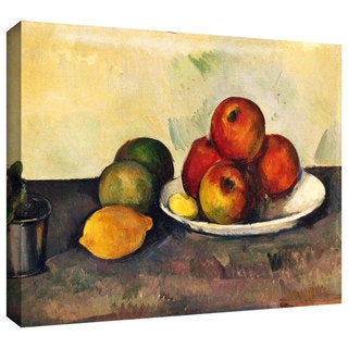 Paul Cezanne 'Still Life with Apples' Gallery-wrapped Canvas Wall Art