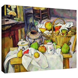 Paul Cezanne 'Still Life with Basket' Gallery-Wrapped Canvas Art