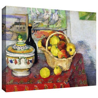 Paul Cezanne 'Still Life with Tureen' Gallery-Wrapped Canvas Art