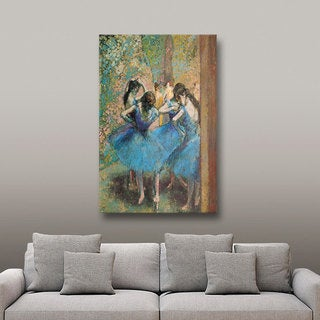 Edgar Degas 'Dancers in Blue' Gallery-Wrapped Canvas Art