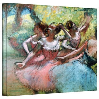 Edgar Degas 'Four Ballerinas on the Stage' Gallery-Wrapped Canvas Art