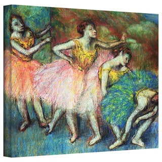Edgar Degas 'Four Dancers' Gallery-Wrapped Canvas Art