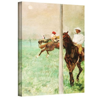 Edgar Degas 'Jockeys Before the Race' Gallery-Wrapped Canvas Art