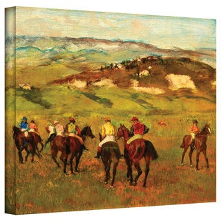 Edgar Degas 'Jockeys on Horseback Before Distant Hills' Gallery-Wrapped Canvas Art