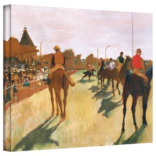 Edgar Degas 'The Parade' Gallery-Wrapped Canvas Art