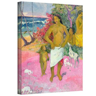 Paul Gauguin 'A Walk by the Sea' Gallery-Wrapped Canvas Art