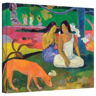 Paul Gauguin 'Arearea (The Red Dog)' Gallery-Wrapped Canvas Art
