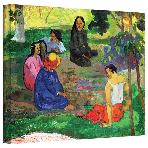 Art Wall Paul Gauguin 'Les Parau Parau (The Gossippers)' Gallery-wrapped Canvas