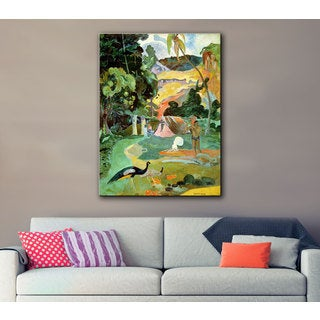 Art Wall Paul Gauguin 'Matamoe (Landscape with Peacocks)' Gallery-wrapped Canvas
