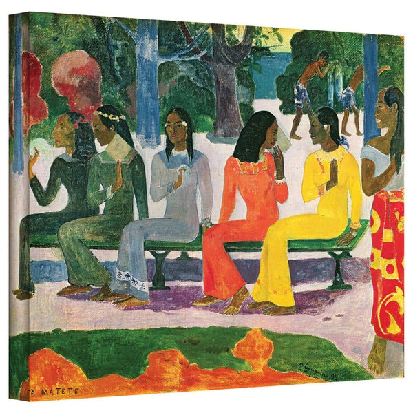 Art Wall Paul Gauguin 'Ta Matete (We Shall Not Go to Market Today)' Gallery-wrapped Canvas