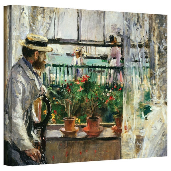 Art Wall Berthe Morisot 'Eugene Manet on the Isle of Wight' Gallery-wrapped Canvas
