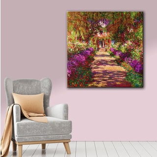 Art Wall Claude Monet 'A Pathway in Monet's Garden' Gallery-wrapped Canvas