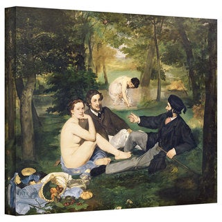 Art Wall Edouard Manet 'Dejeuner sur l'Herbe' Gallery-wrapped Canvas