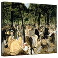 Art Wall Edouard Manet 'music in the Tuileries Gardens' Gallery-Wrapped Canvas