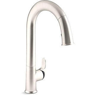Kohler Sensate AC-powered Touchless Vibrant Stainless with Black Accents Kitchen Faucet
