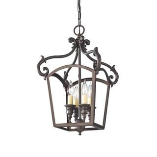 Oil Rubbed Bronze 4-light Luminary Chandelier