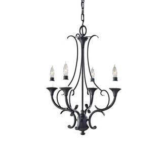 Black 4-light Peyton Mini Chandelier