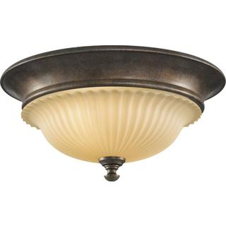 Barrington British Bronze 2-light Indoor Flush Mount Fixture