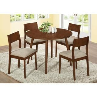 Modern Oak Veneer 42-inch Dining Table