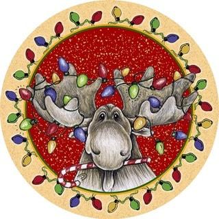 Big Sky Christmas Moose Coaster (Set of 4)
