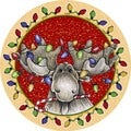 Big Sky Christmas Moose Coaster (Set of 4)