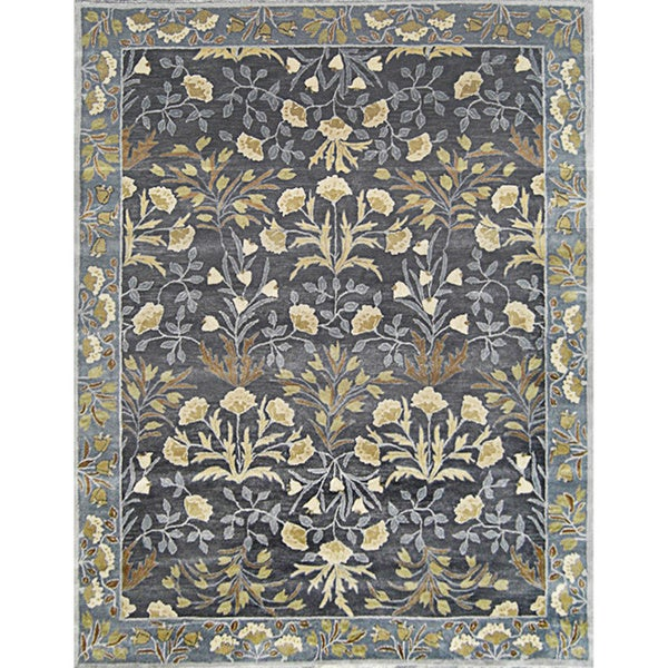 Handmade Alps Blue Wool Rug (8' x 10')