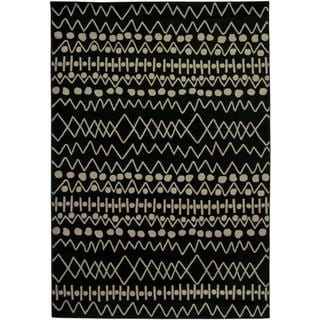 Power Loomed Handicraft Imports Gibraltar Black Area Rug (9'2 X 12'6)